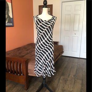 KASPER patterned sleeveless sheath dress